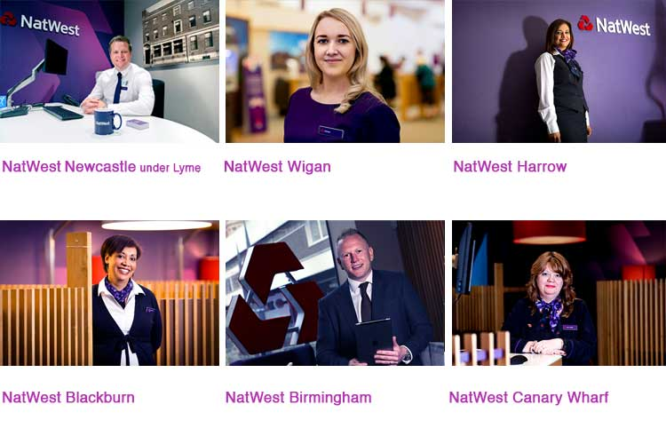 Photos show various NatWest branches
