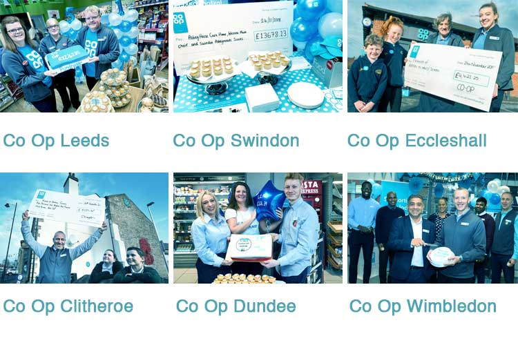 Photos showing Co-op Food in various parts of UK. Photos: ©UNP