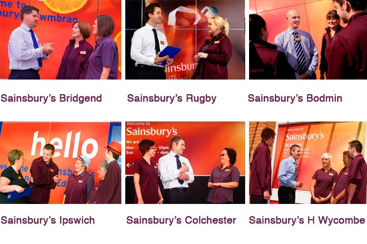 Sainsbury's 'Manager campaign' in various parts of UK