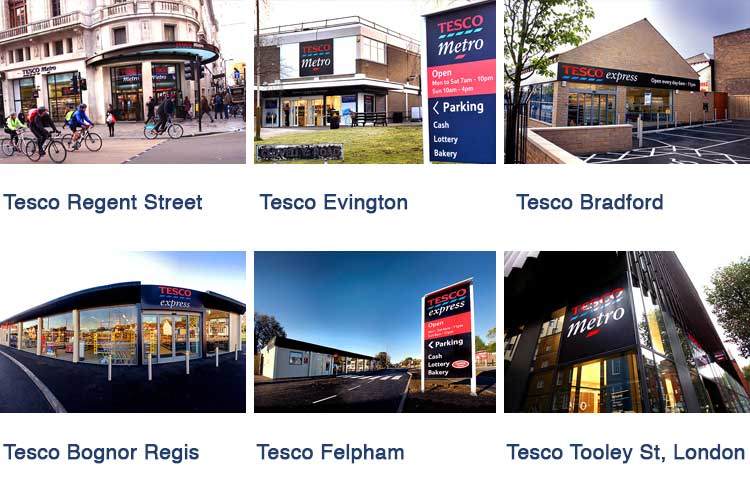 Tesco openings in various parts of UK