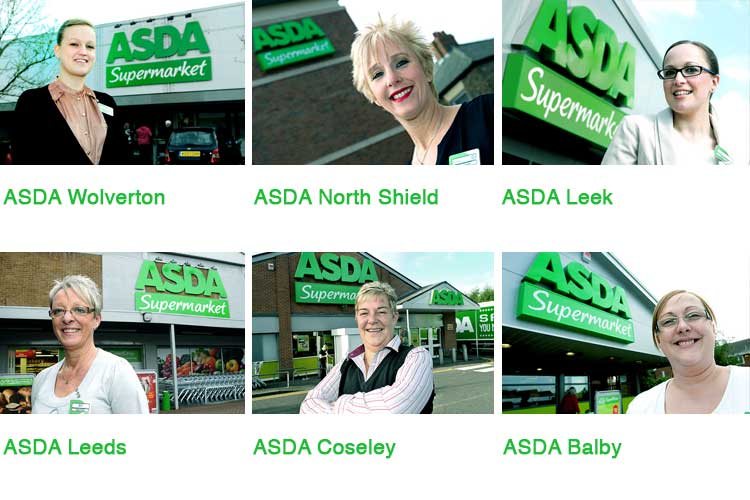 ASDA's 'Managers campaign' in various parts of UK